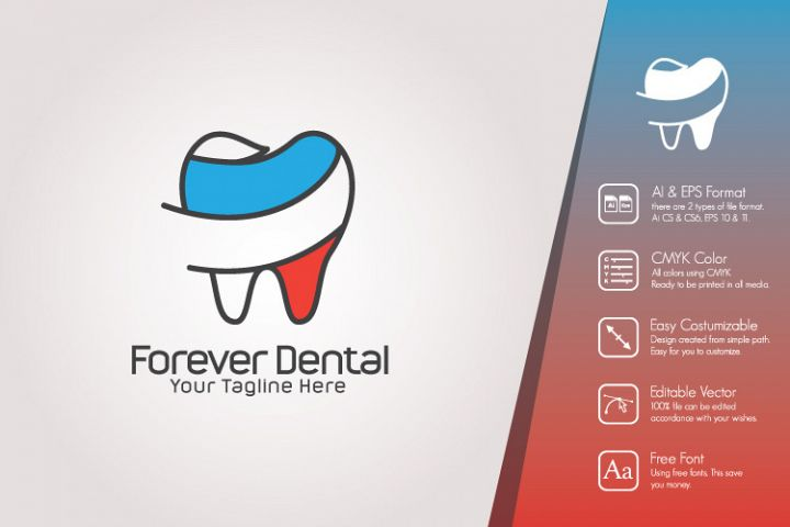 Forever Dental Logo Template