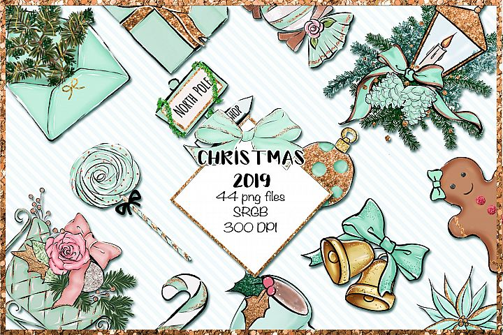 Christmas 2019 png set - Mint