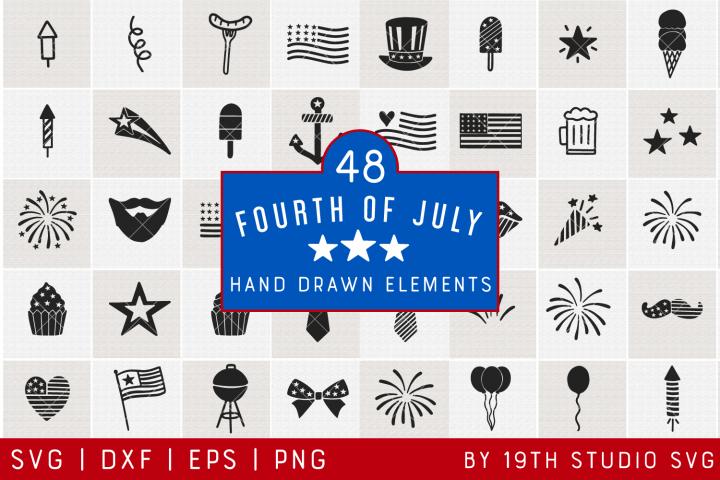 4th of July Illustration | 4th of July SVG Bundle| VB37