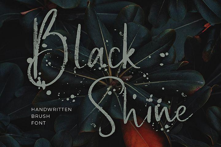 Black Shine Script Brush Font