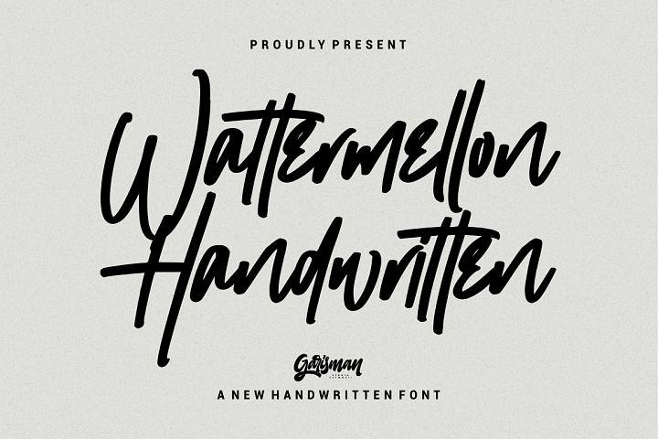 Wattermellon - Handwritten Font
