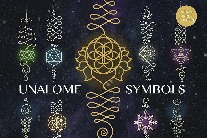 7 Unalome symbols vol.1