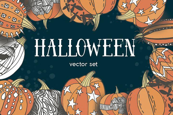 Halloween - vector set