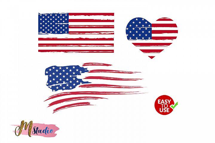 Distressed flag, American flag , USA flag svg, Flag svg.