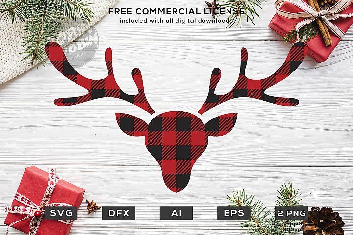 Lumberjack Deer - Christmas SVG Design