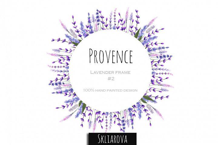Provence. Lavender frame #2