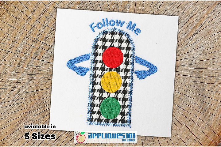 Traffic Signal Embroidery Applique Design - Signal