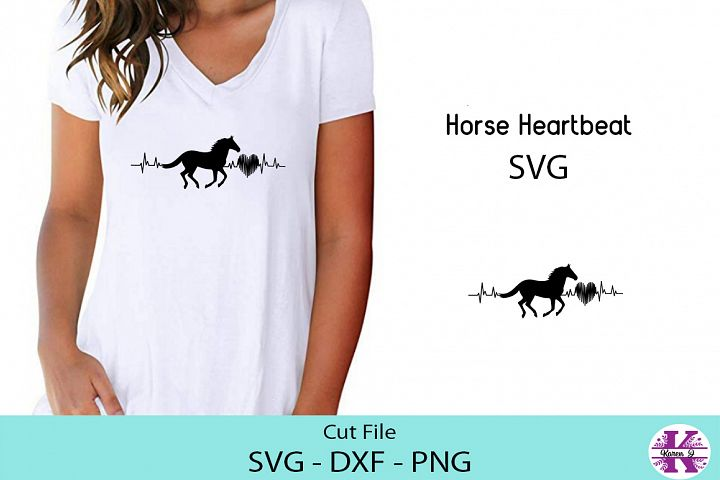Horse Heartbeat-SVG DXF PNG