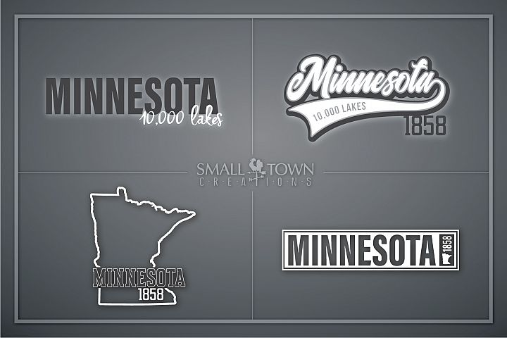 Minnesota, 10,000 Lakes - slogan, PRINT, CUT & DESIGN