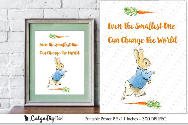 Peter Rabbit Quote Digital Poster Beatrix Potter