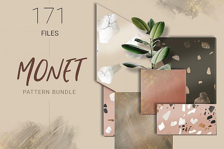 Monet Terrazzo Pattern Bundle