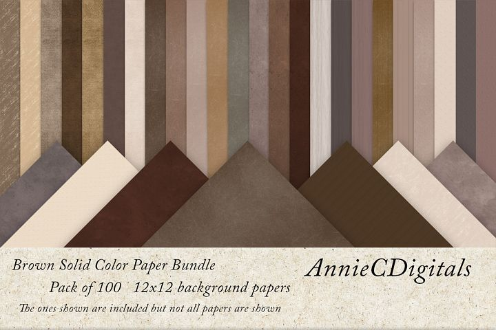 Brown solids digital paper bundle