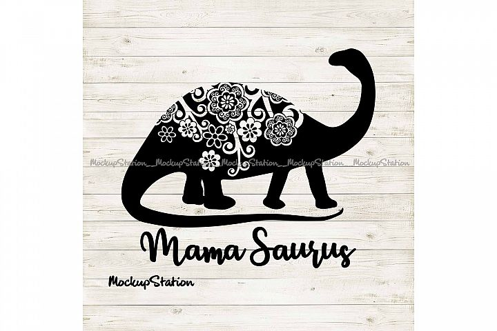 Dino Mom SVG, Mothers Day png, Mama Saurus Mandala Cut File