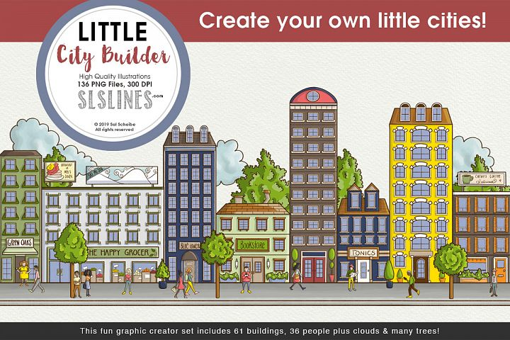 Little City Builder Graphics Set