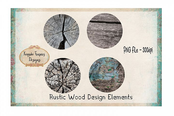 Rustic Wood Design Element Set