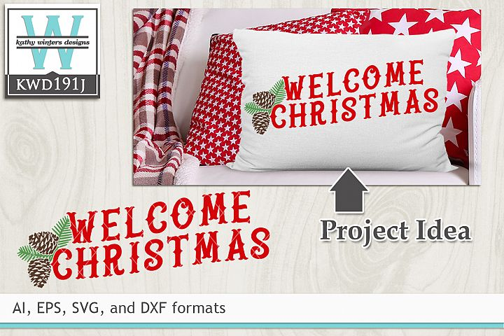Christmas SVG - Welcome Santa