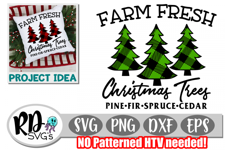 Farm Fresh Tree Farm - A Cuttable Patterned Christmas File