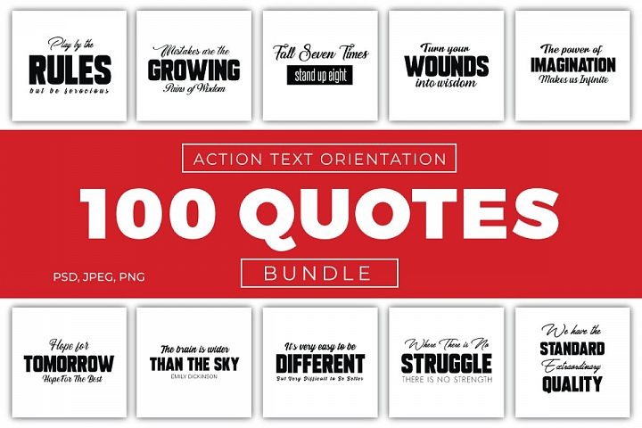 100 Action Quotes Bundle
