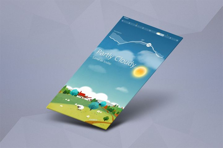 App Mock up - Isometric Scenes
