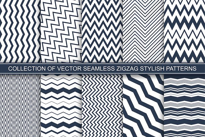 Geometric seamless zigzag patterns