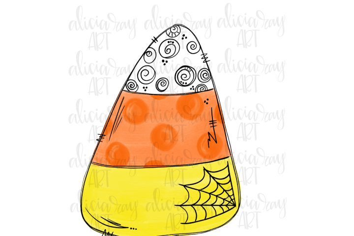 Candy Corn Sublimation PNG Digital Download