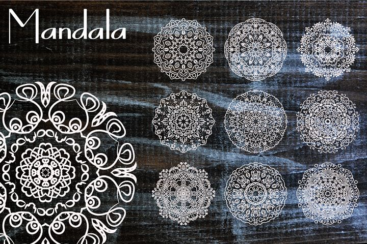 10 Mandala Henna Tattoo Ornaments