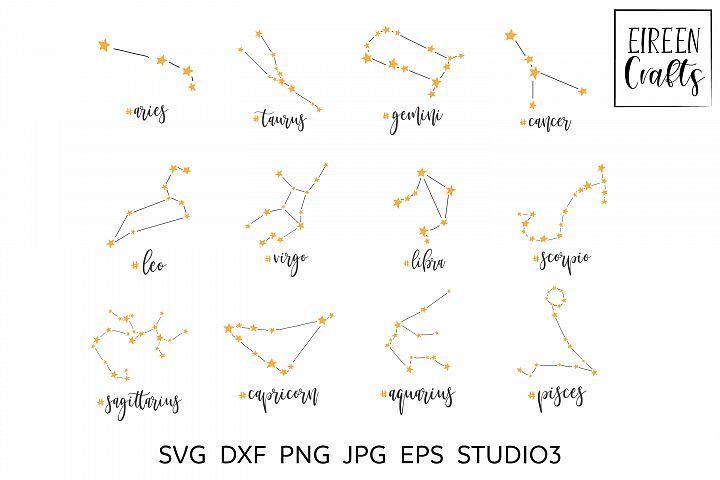 Zodiac SVG Bundle - Zodiac cut files for Cricut & Silhouette