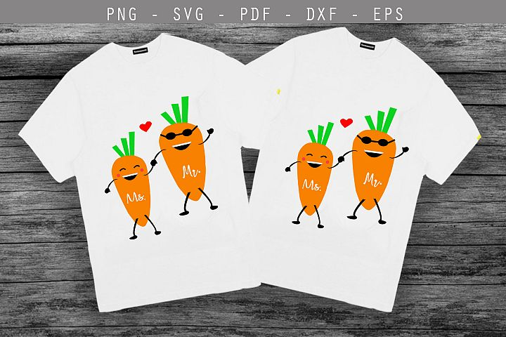 couple svg,love svg,carrot svg,she and he svg, mr mrs svg