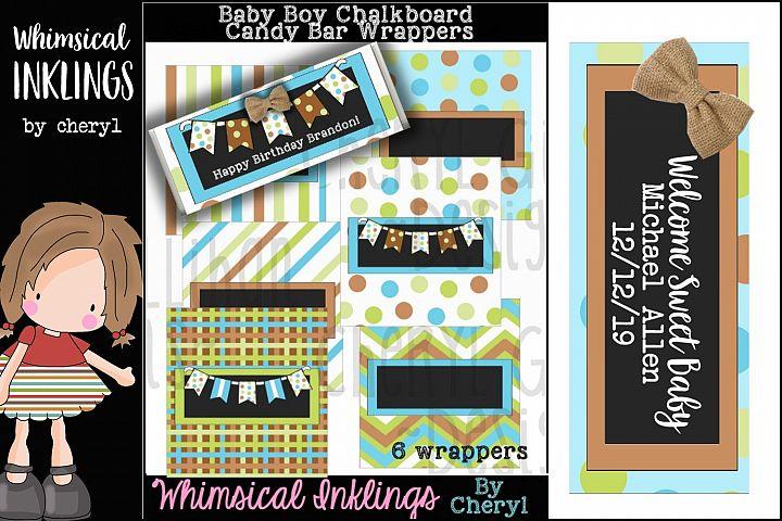 Baby Boy Chalkboard Candy Bar Wrapper Printables