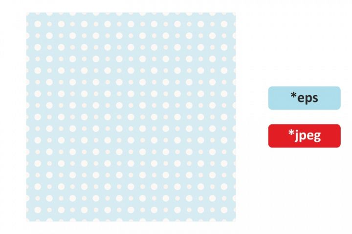Seamless pattern with blue polka dots
