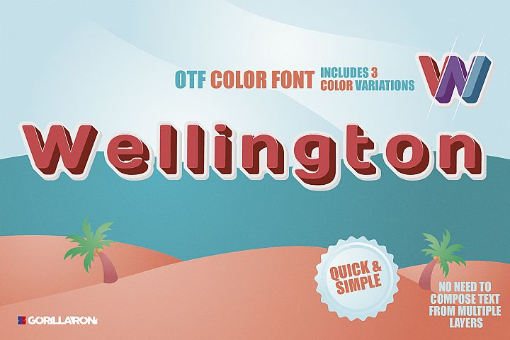 SVG color font - Wellington