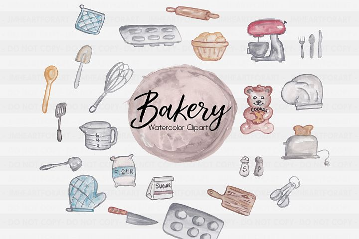 Bakery Clipart-Sweets Clipart-Baking Clipart-Flour Clipart-Cooking Clipart-Clipart-Watercolor Clipart-Chef-Watercolor utensils-spatula