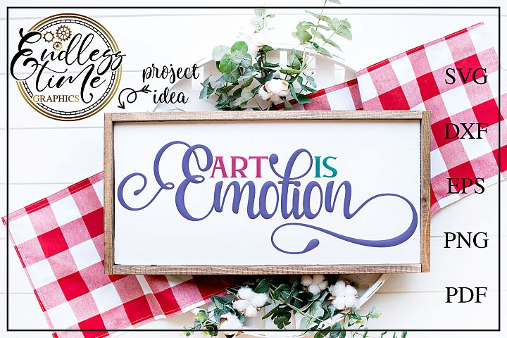 Art is Emotion- An SVG For Artists and Creators