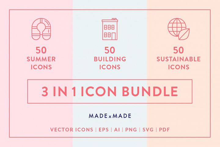Line Icons - 3 in 1 Collections Bundle