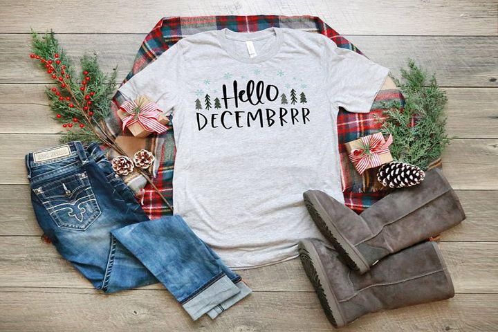 Winter SVG Cut File - Hello Decembrrr