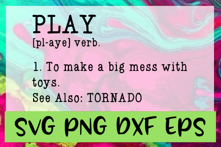 Play Definition SVG PNG DXF & EPS Design Files