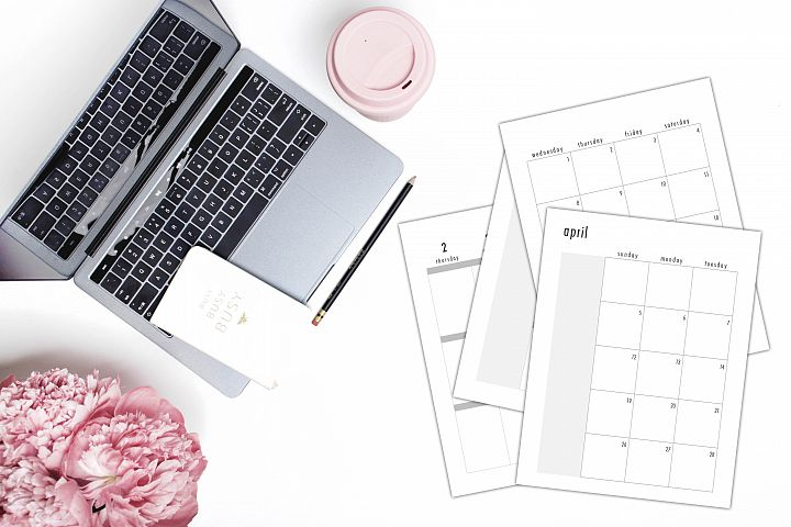 2020 Classic Planner PowerPoint Template month V1 | weeks V1