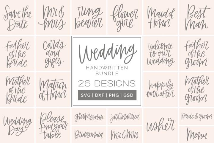 Wedding Handwritten SVG / Clip Art Bundle