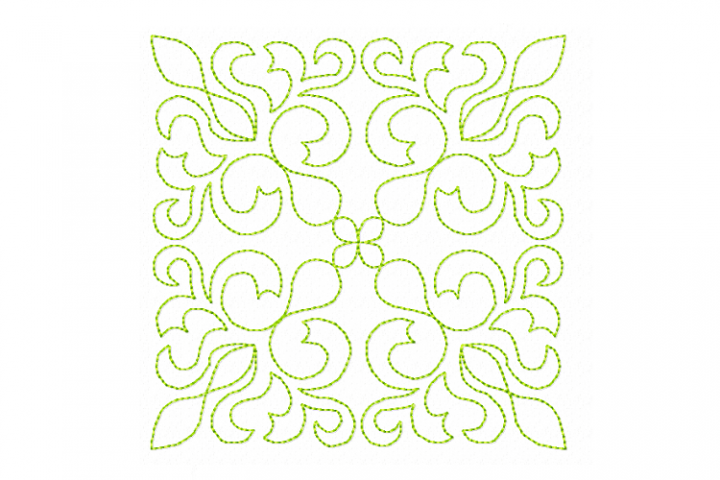Quilt Block Stipple 13 - Machine Embroidery Design in 3 size