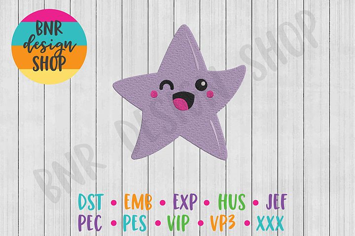 Star Machine Embroidery Design, Happy Embroidery