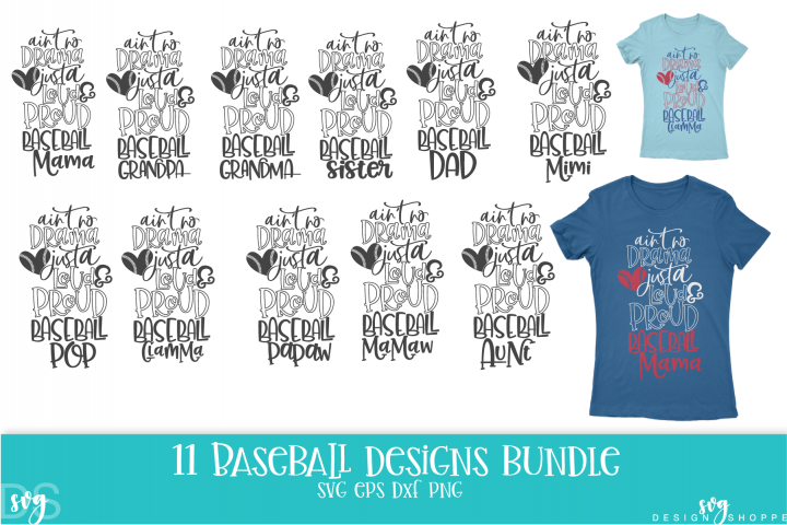 Baseball, Mom, Wife, Grandma, Grandpa, SVG, PNG, DXF, EPS