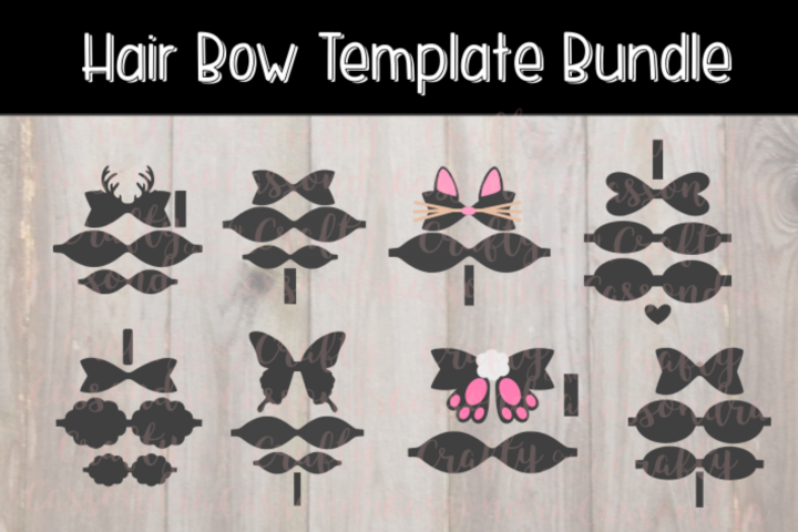 Hair bow template bundle #1 - diy hair bows - svg for bows - Free Design of The Week Design0