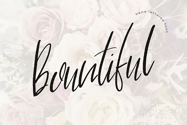 Bountiful Hand lettered. font