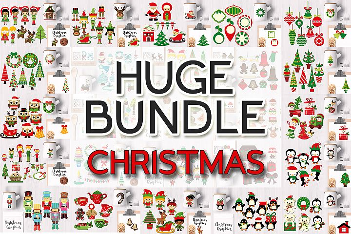 Christmas Bundle, Huge Clip Art Collection