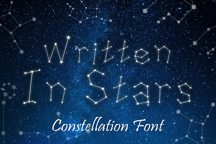 Written in Stars, Constellation Zodiac Font!