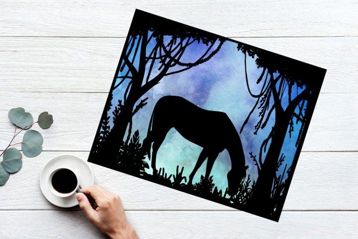 Horse Papercut Template
