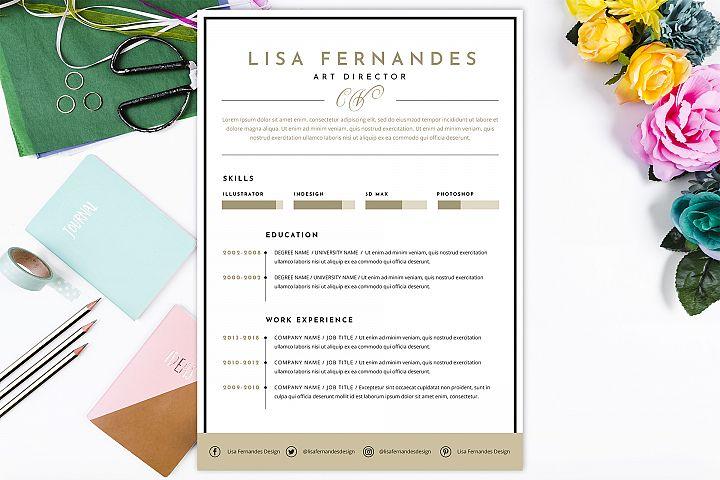Elegant resume CV template