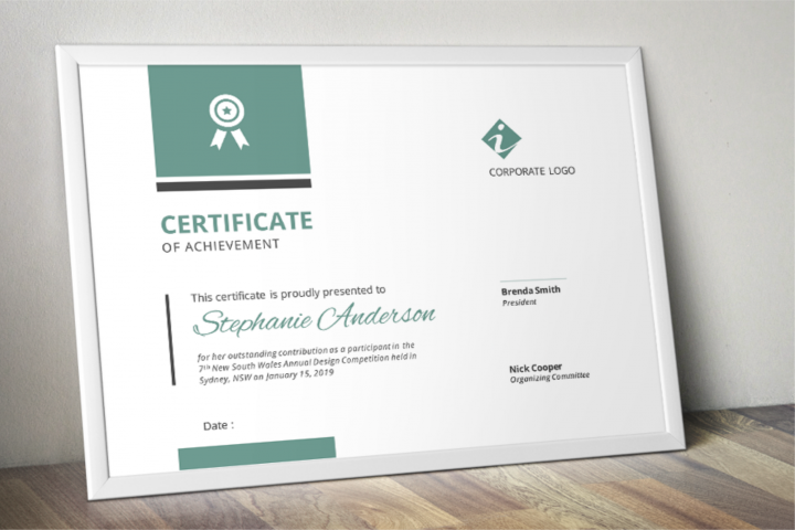 Bar Modern Word Event Certificate Template