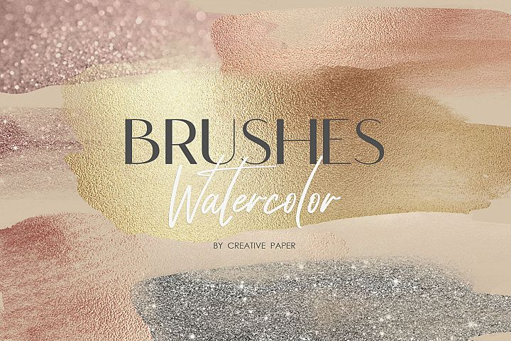 Watercolor Brushes PNG 70 Textures