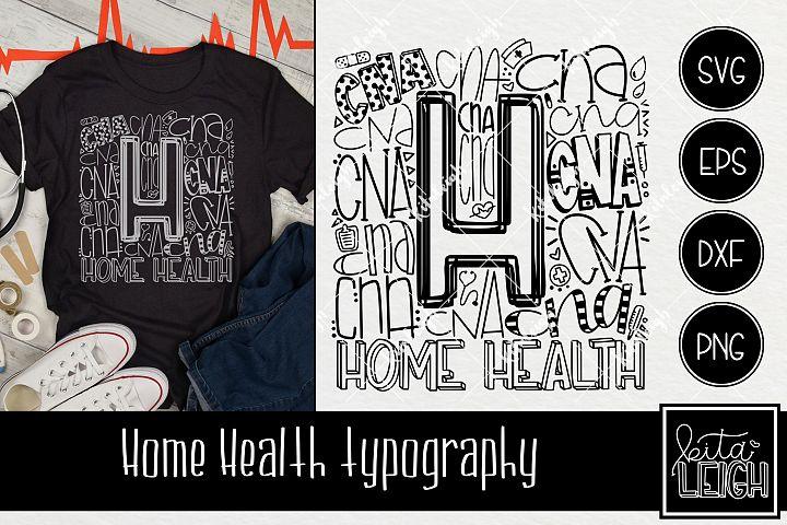 Home Health CNA Typography